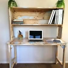 bureau des rangers diy bureau en palette magnifique aspect usé étagère pour ranger