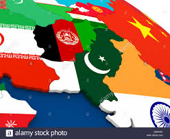 Pakistan On The Map Map Of Afghanistan And Pakistan On Globe With Embedded Flags Of