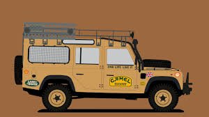 land rover defender vector land rover defender camel trophy