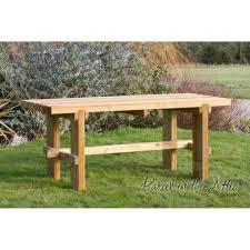 outdoor garden tables uk elche solidwood garden table