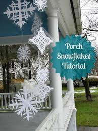 diy porch snowflakes frugal upstate