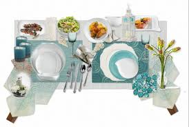 Teal Table L 54 Teal Table Settings Garden Place Settings Ideas Inspiration