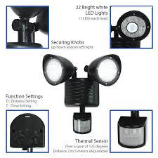 Outdoor Timer With Light Sensor - aliexpress com buy dual head pir motion sensor solar light