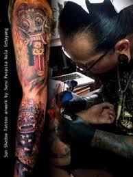 master tattoo indonesia rangda mask tattoo tattoos pinterest masking tattoo and tatting