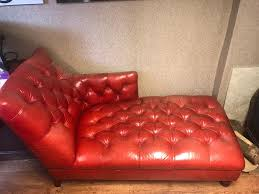 Leather Chaise Lounge Sofa by Genuine John Lewis Chesterfield Leather Chaise Lounge Sofa Red