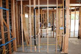 Rough Plumbing Mid Century Green Remodel Wiring Plumbing And Framing And A