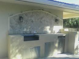 outdoor kitchen backsplash custom outdoor kitchen with granite counter and marble backsplash