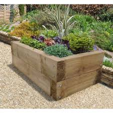 forest garden rectangular sleeper raised bed at wilko com