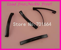 hair barettes aliexpress buy 20pcs black 8mm 80mm 3 15 plain metal slide