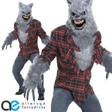 grey lycan werewolf ani motion halloween costume mens fancy