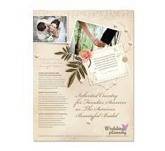 wedding flyer wedding planner flyer template