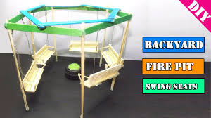 Firepit Swing by Miniature Backyard Swing Seats U0026 Fire Pit Popsicle Stick Craft