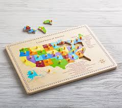 us map puzzle usa map puzzle pottery barn