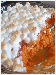 jam mashed sweet potatoes with marshmallows