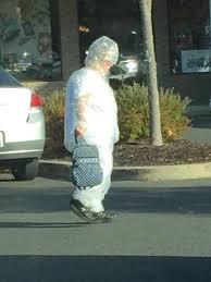 Bubble Wrap Halloween Costume Elderly Woman Car Wearing Bubblewrap Suit Bonus