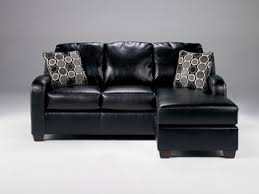 Durablend Leather Sofa Devin Durablend Black Bonded Leather Sofa With Moveable Chaise By
