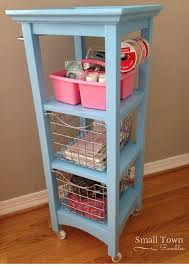 Bathroom Storage Cart Bathroom Storage Tower Repurposed Into A Craft Cart Hometalk