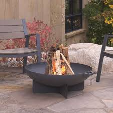 Firepit Bowl Real Anson 32 In Wood Burning Steel Bowl In Gray 958