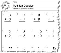 doubles addition facts worksheets worksheets