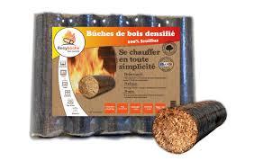 buche de cheminee buches de bois compressée de nuit pack de 10kg