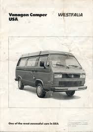 volkswagen vanagon 1987 thesamba com vw archives 1987 vw vanagon westfalia brochure