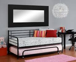 Black Daybed With Trundle Furniture Charming Bedroom With Black Metal Size Daybed And