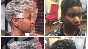 2017 gray short hairstyles black women dallas texas youtube