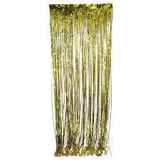 amazon com metallic gold foil fringe curtain 3 ft x 8 ft foil