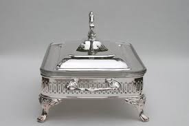 in box oneida silver plate buffet server chafing dish warming