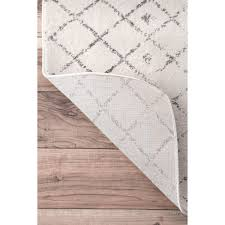 nuloom geometric moroccan trellis fancy grey area rug 8 u0027 x 10
