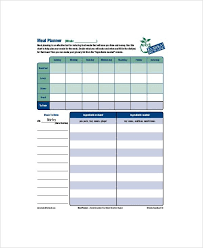 meal planner template printable meal planning templates to