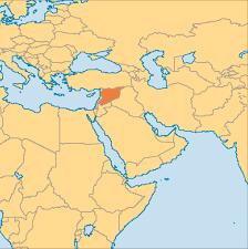 Map Syria by Syria Operation World