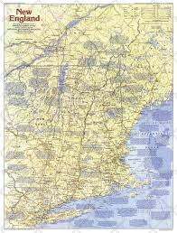 New England Maps by National Geographic Historical Maps Americas Wall Maps Maps