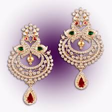 diamond earrings regal peacock diamond earrings raj diamonds