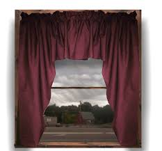 Wine Colored Curtains Solid Burgundy Wine Colored Swag Window Valance Optional