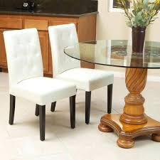 Leather Dining Room Furniture White Tufted Dining Chairs Majestic White Leather Dining Room