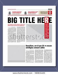 graphical design newspaper template stock vector 135069872