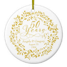 50th wedding anniversary christmas ornament 50 anniversary gifts on zazzle