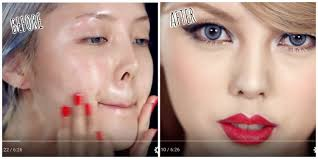 top schools for makeup artistry korean makeup artist transforms herself into in mind
