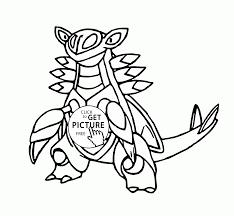 legendary pokemon armaldo coloring pages for kids pokemon