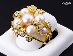 diamond pearl rings images Deluxe fresh water pearl ring cubic zirconia with diamond vilado jpg