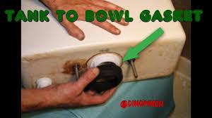 Eljer Corner Toilet Tank Replace Tank To Bowl Gasket Stop Leaking Youtube
