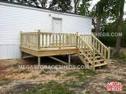 mega storage sheds decks