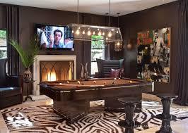 restoration hardware pool table khloe kardashian amazing pool room with zebra print rug anchoring
