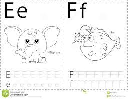 Free Alphabet Tracing Worksheets Cartoon Elephant And Fish Alphabet Tracing Worksheet Writing A