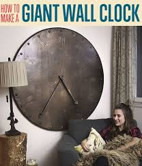 Giant Wall Clock How To Make A Giant Wall Clock Diy Projects Craft Ideas U0026 How To U0027s