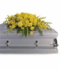 casket spray graceful grandeur casket spray by teleflora in ca