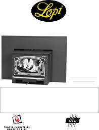 lopi revere owner u0027s manual fireplace insert revere