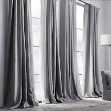 Classic Shower Curtain Leyden Pinch Pleat Linen Classic Solid Gray Curtain Drapes 50wx63
