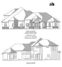 opulent design ideas 4 bedroom 2 story garage with house plans 1 3